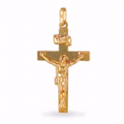 9ct Gold Large Crucifix on Flat Cross Pendant 1.5g